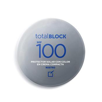 TOTAL BLOCK SPF 100 PROTECTOR COMPACTO CON COLOR