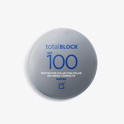 TOTAL BLOCK  PROTECTOR SOLAR  CREMA COMPACTA SPF 100