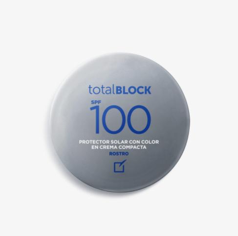 Protector Solar Total Block SPF 100 Compacto Nude